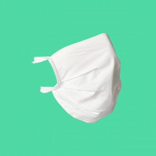 Mascherina protettiva viso di profilo